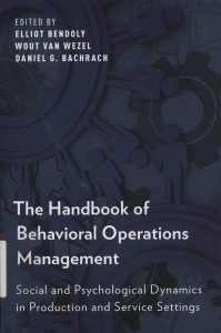 The Handbook of Behavioral Operations Management