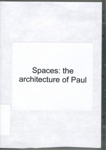 Spaces--The Architecture of Paul Rudolph