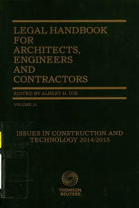 Legal Handbook for Architects, Engineers and Contractors